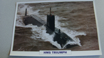 1991 HMS Triumph submarine warship framed picture